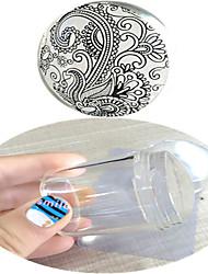 Nail Art Stamping Placa Stamper raspador 4.2*4*4.2