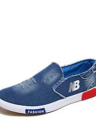 Masculino-Rasos-Rasos-Rasteiro-Azul-Jeans-Casual