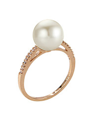 Ring Fashion / Birthstones Party / Daily / Casual Jewelry Alloy / Imitation Pearl / Zircon Women Band Rings 1pc,6 / 7 / 8 / 9Gold /