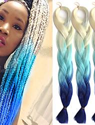 """Beige hellblau saphir ombre häkeln 24 """"yaki kanekalon faser 100g 3 tone jumbo braids synthetisches haar"""