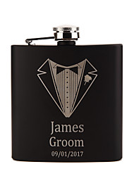Groom / Groomsman / Couple / Parents Gifts Piece/Set Hip Flasks Classic / Modern / Lovers Wedding / Birthday / Valentine Stainless Steel