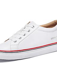 Homme-Bureau & Travail / Habillé-Vert / Rouge-Talon Plat-Confort-Sneakers-Similicuir