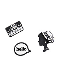 Fashion Women Cute Beauty Lady Set Pin Brooch Set
