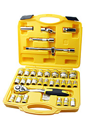 "REWIN® TOOL 50BV30 Chrome-vanadium Steel 120PCS 1/4"" &3/8"" & 1/2""High Quality Socket Wrench Tool Set Tool Box Bits Box"
