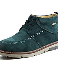 TBLS® Men's Suede Boots Brown / Green / Gray-6233