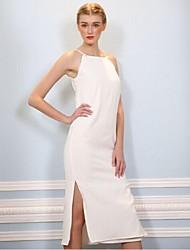 To My Fair Lady® Women's Halter Sleeveless Tea-length Dress-16321