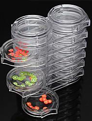 1pc 6 couches tips bouteille ongles accessoires d'art pot gemmes stockage de strass outil de support de décoration cas des ongles en