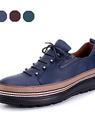 TBLS® Men's Cowhide Oxfords Blue / Brown / Green-6281-1
