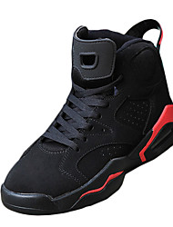Basketball Shoes Men's PU Spring Fall Casual  Flat Heel Black/Red Black/White Red/White