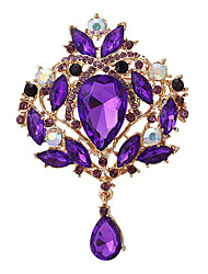 Fashion Lady Boutique Purple Droplet Wedding Brooches for Women