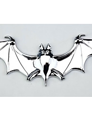 The Pure Metal Bats In Car, Car Stereo Metal Decorative Stickers, Reflective Stickers