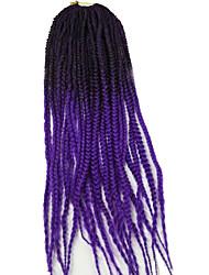 Box Tranças Tranças torção Extensões de cabelo 24 inch Kanikalon 20 costa 100g grama Tranças de cabelo