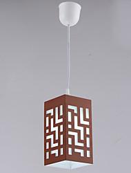 1 Light Grid Elegant Mini Chandelier