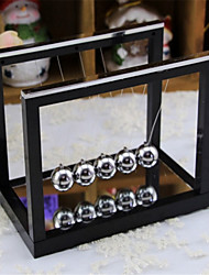 Newton's Cradle table with a mirror ball swing ball ornaments gifts