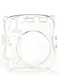 Mini 25 Instant Camera Case - Instax Mini 8 Transparent Case with Camera Shoulder Strap (Brown)
