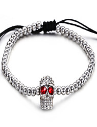 Gothic Style Cheap Jewelry Men's Stainless Steel Beads Bracelet
