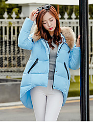 Down jacket female long cloak heavy hair brought down jacket