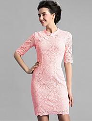 Baoyan® Femme Mao Manches 1/2 Au dessus des genoux Robes-1600722