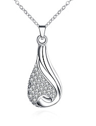 Fashion jewelry pendant necklaces 925 silver necklace crystal  bottle necklaces for women party P302
