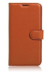 For DOOGEE Case Card Holder / with Stand / Flip Case Full Body Case Solid Color Hard PU Leather DOOGEE