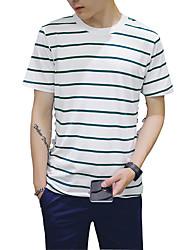 Hong Kong men's T-shirt printing wind Summer Youth Summer men's clothes - Korean cultivating students tide