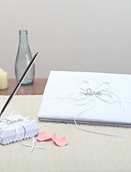 Satin Garden ThemeWithRhinestones Pen Set / Guest Book
