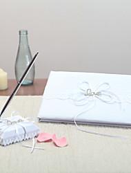 Satin Thème de jardinWithStrass Livre d'or Ensemble de stylos