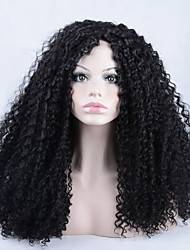 High Quality Heat Resistant Wig Afro kinky curly Synthetic Lace Front Wig For Afro African Americans And Black Women