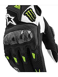 SMX-2 luvas de couro pretas competência da motocicleta com luvas de malha luvas - curta cavaleiro verão
