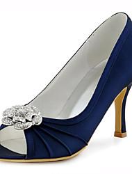 Mujer-Tacón Stiletto-Tacones / Punta Abierta-Sandalias-Boda / Vestido / Fiesta y Noche-Satén Elástico-Azul / Rosa / Azul Real