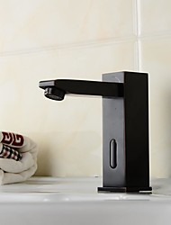 Contemporary Oil-rubbed Bronze Bathroom Sink Faucet  with Automatic Sensor Hand Free Faucet