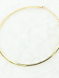 Necklace Torque Jewelry Wedding / Party / Daily / Casual Alloy / Silver Plated / Gold Plated Gold / Silver 1pc Gift