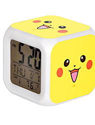 Cartoon Pet Colorful Luminous Alarm Clock-11#