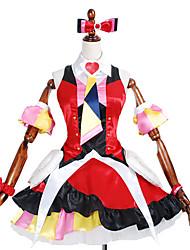 Inspirado por Macross Frontier Outros anime Cosplay Costumes Ternos de Cosplay / Vestidos Estampado / PatchworkVestido / Gravata / Mangas