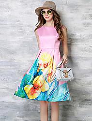 maxlindy Frauen Ausgehen / Cocktail / Urlaub Jahrgang / Straße chic / anspruchsvolle Blumenkleid