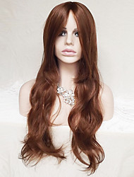 Ms Points in 28 Inch Light Brown Curly Hair Wig