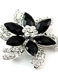 Fashion Alloy Acrylic Flower Brooches for Wedding