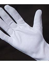 guantes de protección perla blanca tela de algodón de seguridad de discos