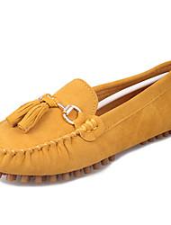 Damen Flache Schuhe Komfort Vlies Sommer Normal Komfort Quaste Flacher Absatz Pfirsich Braun Grün Blau Burgund Flach