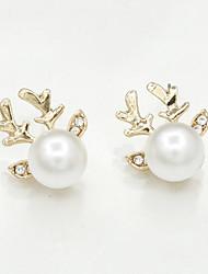 Women's Stud Earrings Imitation Pearl Rhinestone Sexy Fashion Imitation Pearl Alloy Animal Shape Jewelry For Daily Casual Bikini Date