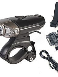 Lampes Frontales Eclairage de Vélo / bicyclette Lampe Avant de Vélo Lampe Arrière de Vélo LED Cree CyclismeRechargeable Antidérapant