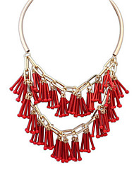 Big Exaggerated Fashion Tassel Necklace Bars