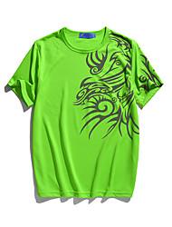 Herren Freizeit T-shirt - Druck Kurz Baumwolle / Polyester