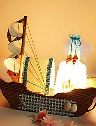 bouteilles de dérive bateau à voile millésime lampe veilleuse bois