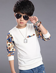 Boy's Cotton Spring/Autumn Long Sleeve T-shirts Pure Cotton Casual Tees