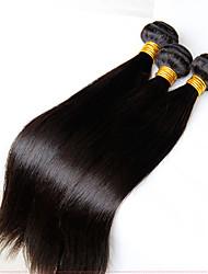 """3 pcs beaucoup 8 """"-28"""" philippins cheveux vierge droites humaines faisceaux naturelles noires de tissage de cheveux enchevêtrement"""