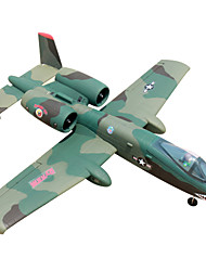 Dynam A-10 1:8 Brushless Electric 70KM/H RC Airplane 4ch 2.4G EPO green PNP