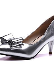 Damen-High Heels-Büro / Kleid / Party & Festivität-Kunstleder-Kitten Heel-Absatz-Absätze / Pumps / Spitzschuh-Blau / Rosa / Silber / Gold