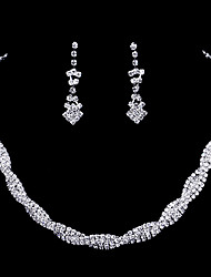 Jewelry Set Fashion Silver Necklace/Earrings Wedding 1set Necklaces Earrings Wedding Gifts