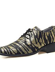 CEYUE Men's Shoes PU Casual Walking Flat Heel Lace-up More Color EU39-43